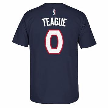 Adidas Jeff Teague Atlanta Hawks de la NBA Azul Marino Reproductor Nombre y número del Equipo