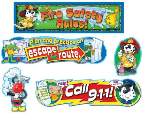 Rules Bulletin Board Set - Fire Safety Mini Bulletin Board Set