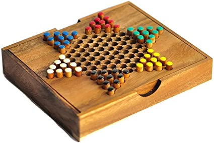Wooden Chinese Checkers Travel Game Set Board game Set Puzzle Game