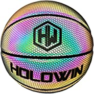 HOLOWIN Reflective Glowing Holographic Luminous Basket Ball for Night Game, Perfect HoloHoops Gifts Toys (Refl