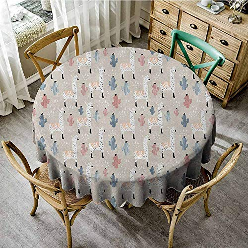 Rank-T Round Tablecloth White Fabric 70
