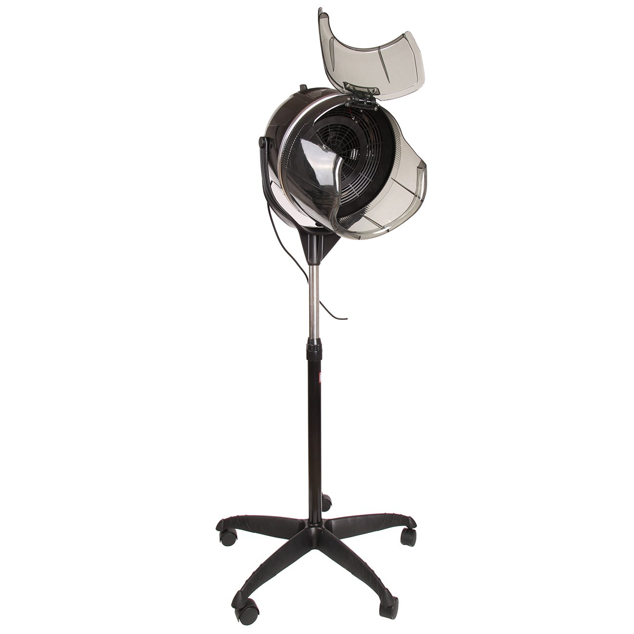 Ambienceo 900W Professional Height Adjustable Salon Hair Hood Dryer Floor Bonnet with Rolling Base