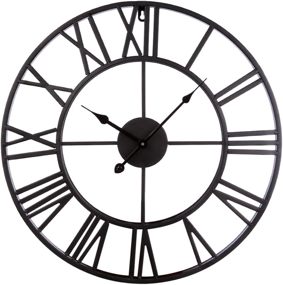 20 inch oversize metal wall clock