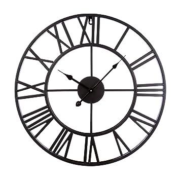 Lokauf Horloge Murale Vintage 50cm Grande Horloge Murale