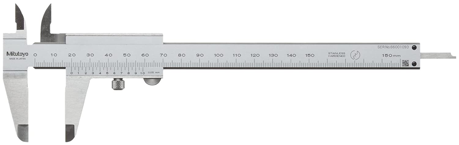 Mitutoyo 522-600 Vernier Caliper, Stainless Steel, 0-150mm Range, +/-0.05mm Accuracy, 0.05mm Resolution by Mitutoyo B003UATQGG