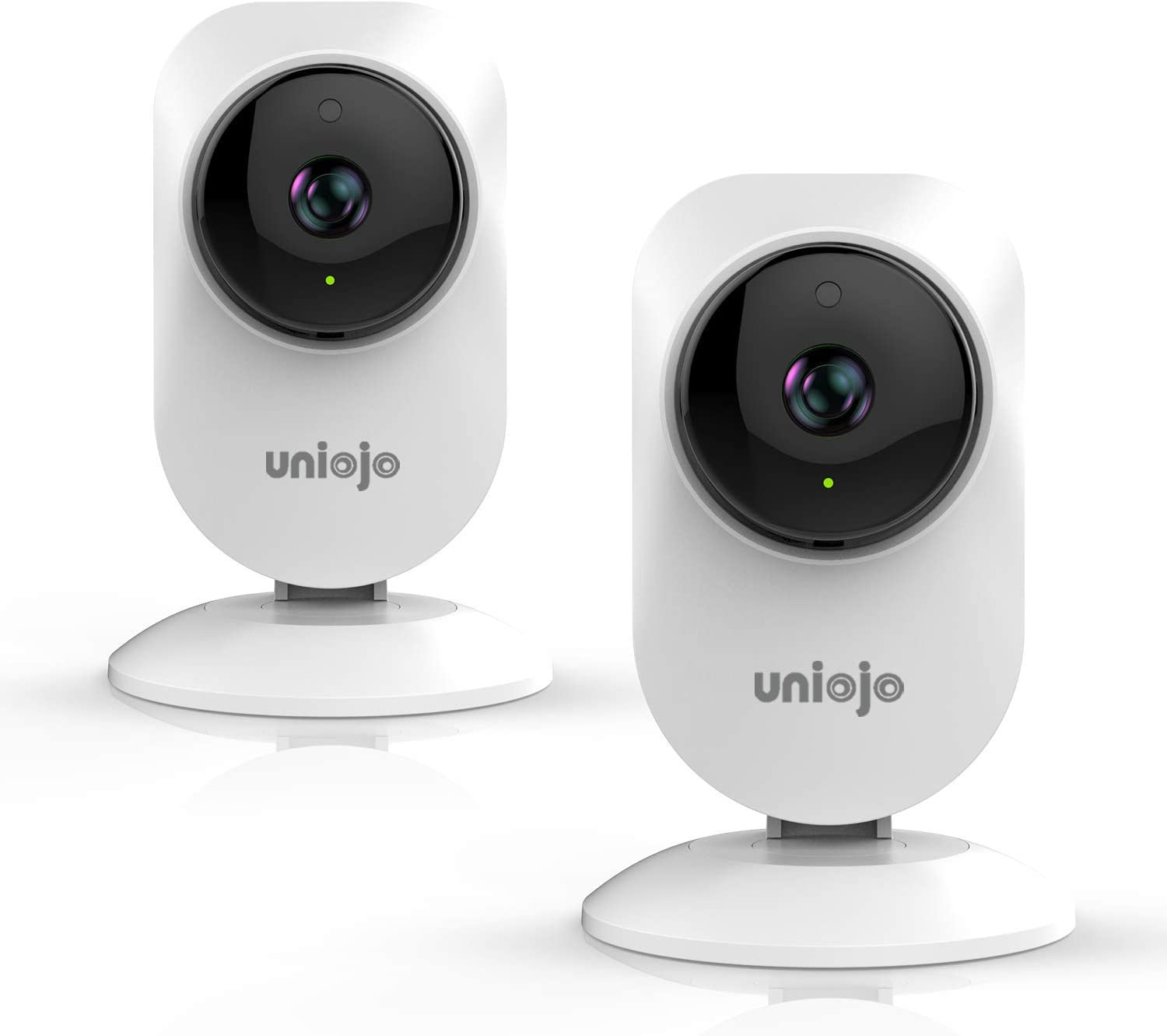 WiFi Camera Indoor, UNIOJO 1080P Home Surveillance IP Camera with Alexa, Night Vision, Movement Tracking, Activity Alerts, Cloud Service Available for Baby/Elder/Pet Monitor (2 Pack)