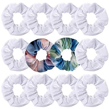 12 Pack Hair Scrunchies Velvet Scrunchy Bobbles Elastic Ponytail Hair Bands Set