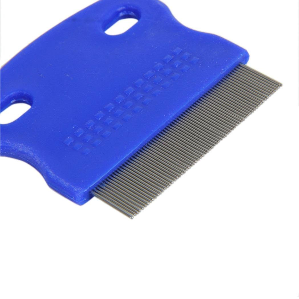 Xiaosan Terminator Lice Comb Brushes Hair Rid Headlice Stainless Steel Metal Teet (A) by Xiaosan (Image #4)