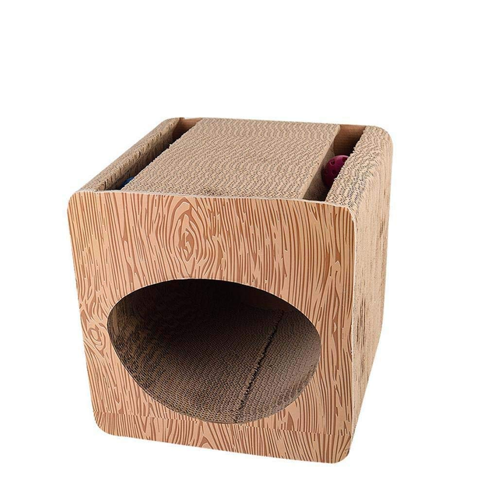 TOUYOUIOPNG Deluxe Multi Level Cat Tree Creative Play Towers Trees for Cats Corrugated Cat climbing frame cat tree cat nest for sleeping games 33cm 32cm  33cm