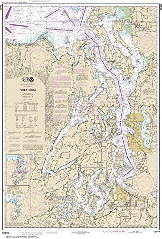 "MapHouse NOAA Chart 18440 Puget Sound: 42.13"" X 27.85"" Paper Chart"