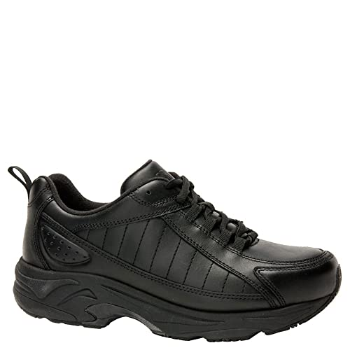 2b3598274af8d Drew Shoe Women's Fusion Athletic Sneakers, Black Leather, 12.5 XW