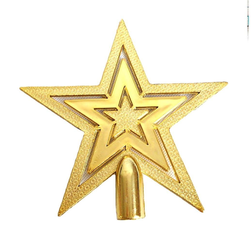 合法立ち向かう祖母20cm クリスマスツリートップ スター 星 クリスマス 飾り ツリーオーナメント 幸せを運ぶシャイニングスターインテリア ツリー 飾り 星/アレンジ/オーナメント (シルバー)