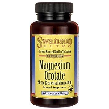 Swanson Magnesium Orotate 40 Milligrams 60 Capsules