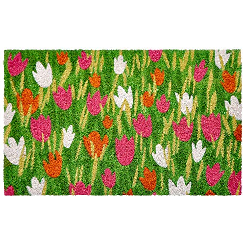 Liora Manne NTR12209137 Natura Novelty Tulip Field Outdoor Rug, 18