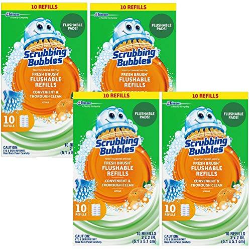 Scrubbing Bubbles Fresh Brush Refill 10-Count, 4 Pack