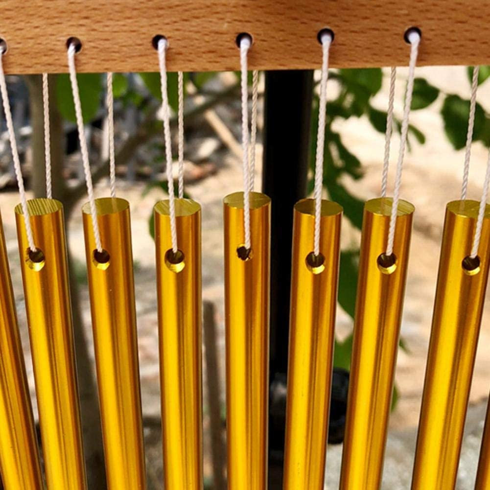 Sundlight Bar Chimes Single-Row Bar Wind Chime Sound 20 Bars Single-Row Musical Percussion Instrument fit Home