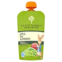 Peter Rabbit Organics Apple, Pea and Spinach Puree, 4.4-Ounce Pouches (Pack of 10)