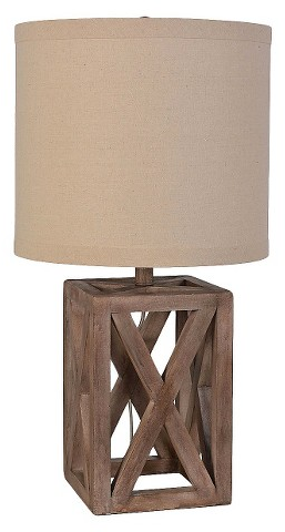 Oversized Wood Assembled Table Lamp - Threshold™ : Target