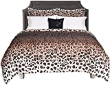 Beco Home Bedding Collection: 8 Piece Bed-in-a-Bag Comforter Set, Maya (Leopard Print), Queen