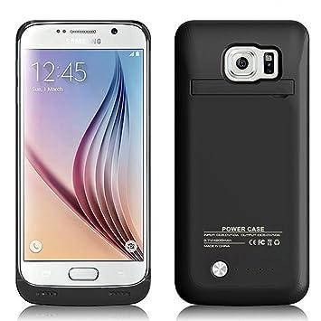 MPTEK @ Negro Externos 4200mah batería Funda Cargador Para Samsung Galaxy S6 Edge samsung S6 edge G925 G925A G925F 5,1
