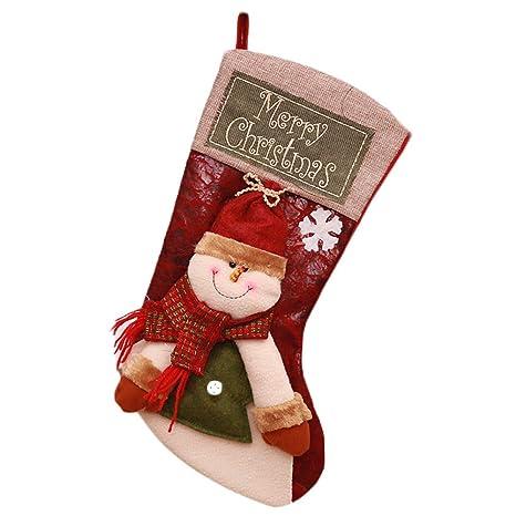 Hosaire 1X Decoraciones de Navidad Calcetines,Encantador de Medias de Navidad Decoración Casa Colgando Árbol