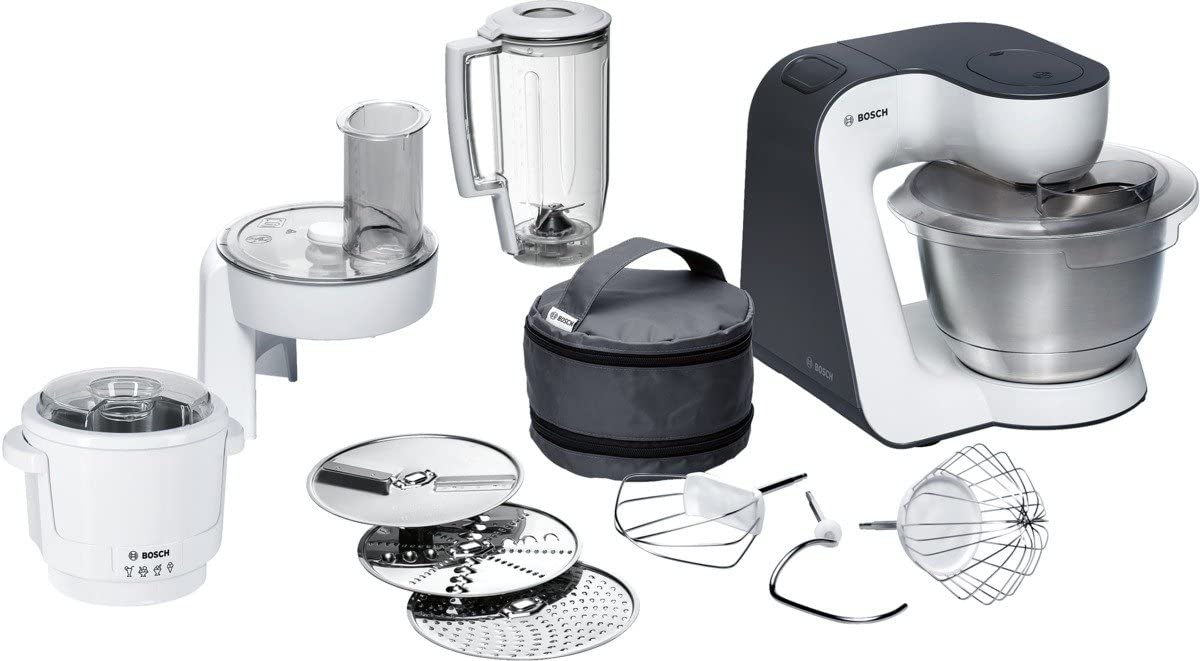 Bosch MUM5 - Robot de cocina con heladera, 700 W, 4 velocidades + Turbo, color blanco: Amazon.es: Hogar