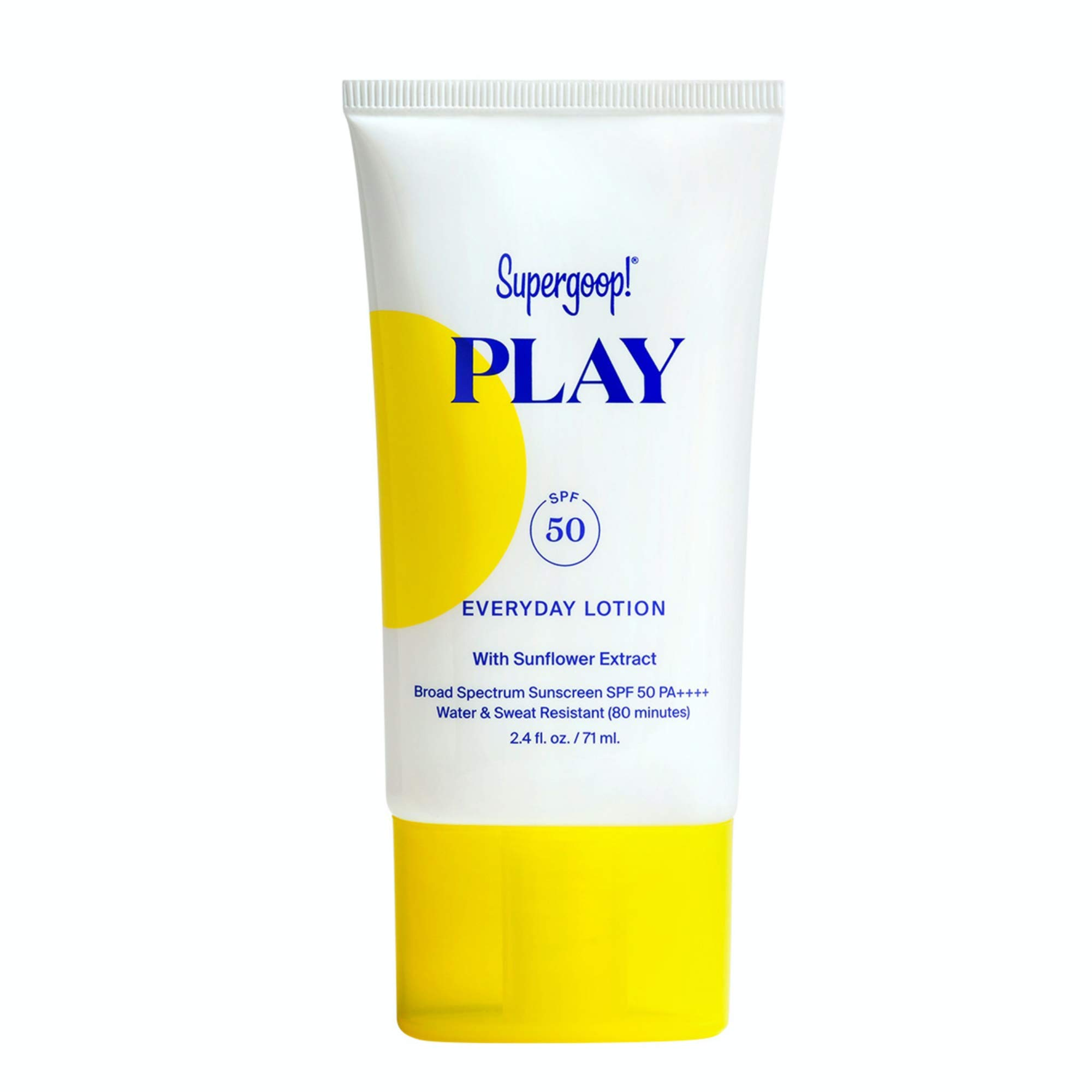 Supergoop! Everyday Play SPF 50 Lotion, 2.4 fl oz - Broad Spectrum Sunscreen for Sensitive Skin - Water & Sweat Resistant Body & Face Sunscreen - Athlete-Trusted, Great for Active Days