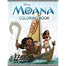 Coloring Book based on MOANA cartoon, for Kids and Adults, EXCLUSIVE Illustrations
