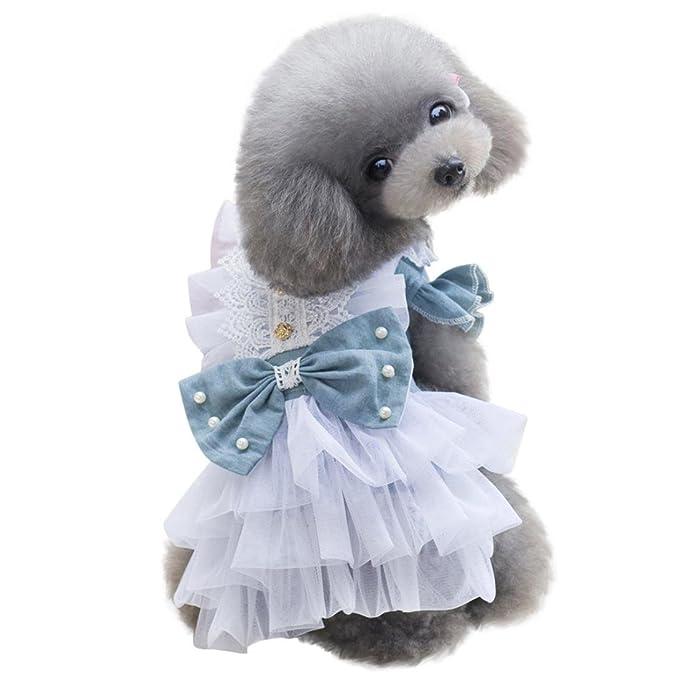 Amazon.com: ooeoo mascota perro gato ropa disfraz vestido ...