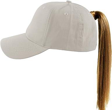 1 Pc Grey Adjustable Women Men Baseball Cap Messy Bun Snapback Mesh Sun Sport Outdoor