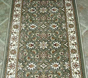 101251 rug depot traditional oriental hall runner remnant 26 x 8 39 6 spearmint - Rugs and runners to match ...