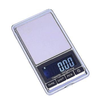 Báscula Digital de Alta precisión, 500 g/0,01 g, báscula electrónica de Bolsillo para joyería, Cocina: Amazon.es: Hogar