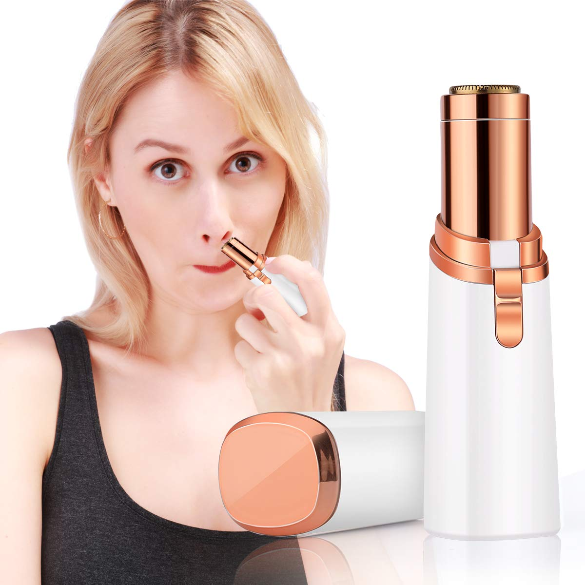 Veru ETERNITY Facial Hair Removal for Women, Painless Hair Remover with LED Light-for Chin Hair, Upper Lip Moustaches, Peach Fuzz, and Cheeks