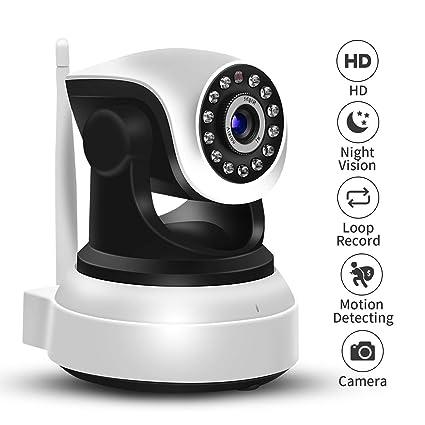 SDETER 1080P Cámara IP WIFI, Audio de 2 Vías, Detector de Movimiento PTZ,