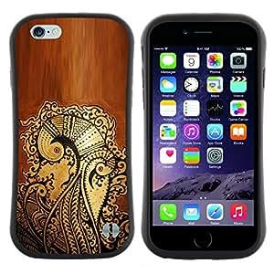 "Hypernova Slim Fit Dual Barniz Protector Caso Case Funda Para Apple (5.5 inches!!!) iPhone 6 Plus / 6S Plus ( 5.5 ) [Pluma Arte floral Graffiti Patrón""]"