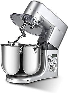 QWEASDF Stand Mixer, Kitchen Aid Stand Mixers, Food Processor, 10L 1500W 6-Speed Tilt-Head Food Mixer