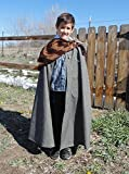 Boys 5-7 adjustable blue , brown and grey bear prince with matching fur and cape