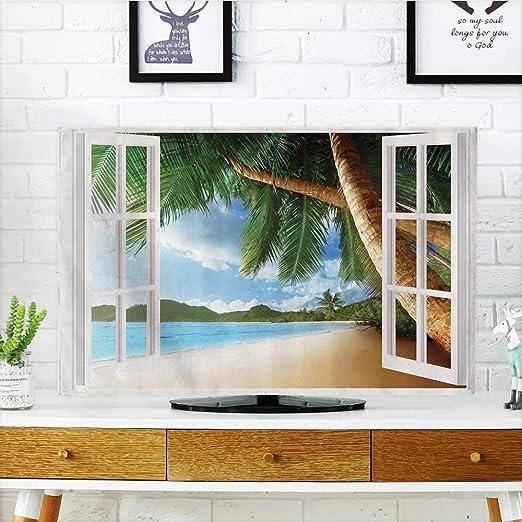 L-QN - Cortinas de baño con diseño de cenador de TV y Palmera para ...