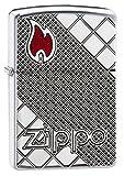 Zippo Armor Logo & Flame Pocket Lighter, High Polish Chrome