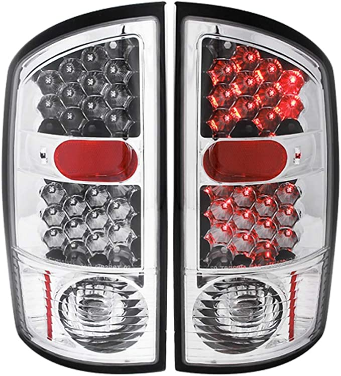 Sold in Pairs Anzo USA 311017 Dodge Ram Chrome LED Tail Light Assembly