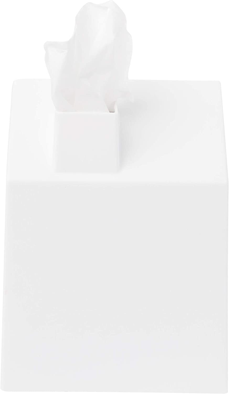 Umbra Casa Kosmetiktücherbox – Moderner und Dekorativer Taschentuchspender  für Badezimmer, Büro, Schlafzimmer und Mehr, Weiß