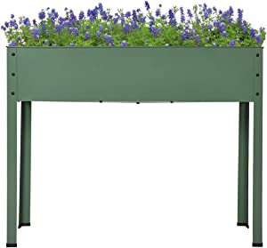 Kinsuite Raised Garden Bed for Vegetables Flower Herb Elevated Planter Box Stand for a Deck, Patio or Backyard