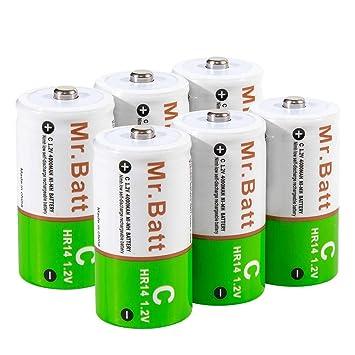 Amazon.com: Batería C recargable. Paquete de 6 6: Home Audio ...