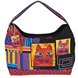 Laurel Burch Whiskered Cats Hobo (Multi)