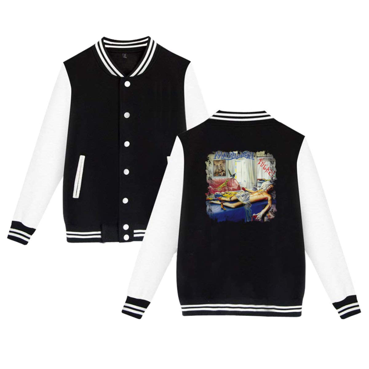 CHASIHAO Marillion Fugazi Men Women Baseball Uniform Jacket Coat Black