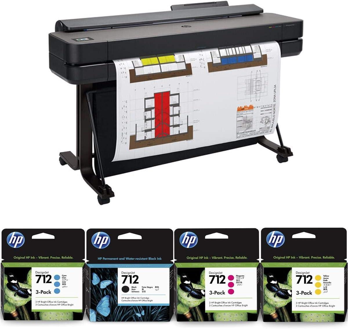 HP DesignJet T650 Large Format Printer, 36