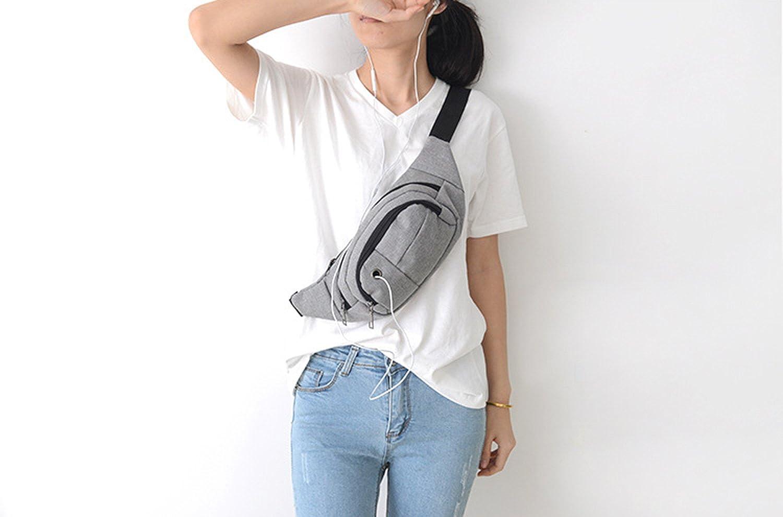 Multipurpose Fanny Pack for Men Running Walking Waist Pack 3-Zipper Pockets with Adjustable Belt Hip Bum Bag