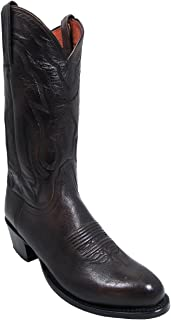 """product image for Lucchese Mens T3099.R4 Men's Cowboy Boots 13"""" Lone Stare Calf Antique Walnut"""
