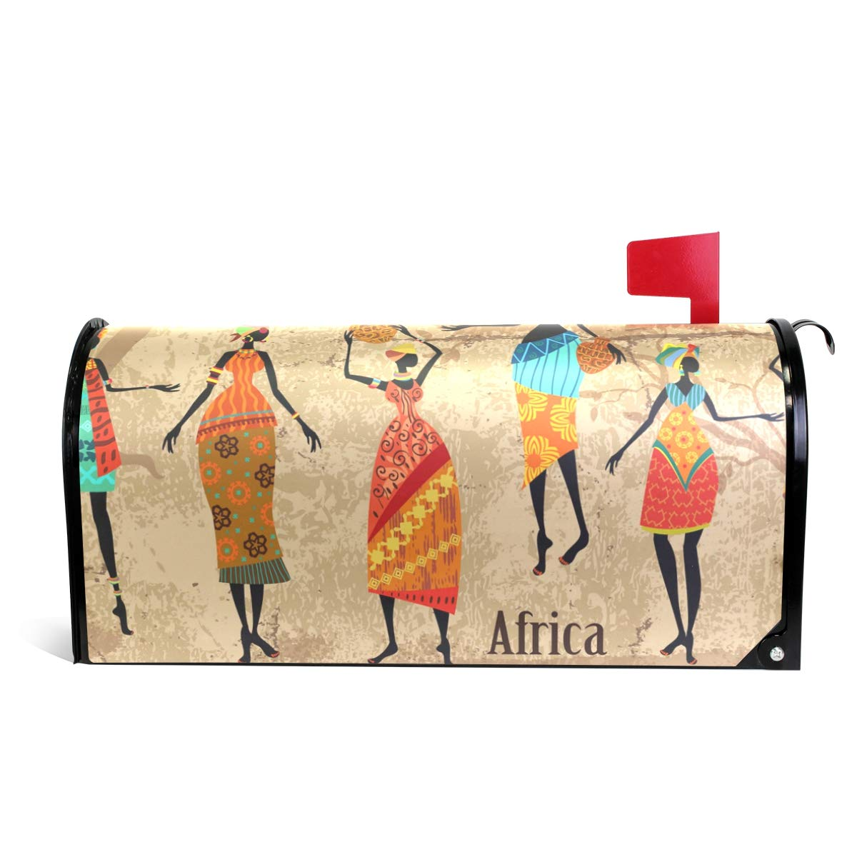 MAPOLO Vintage African Women Magnetic Mailbox Cover for Standard Size