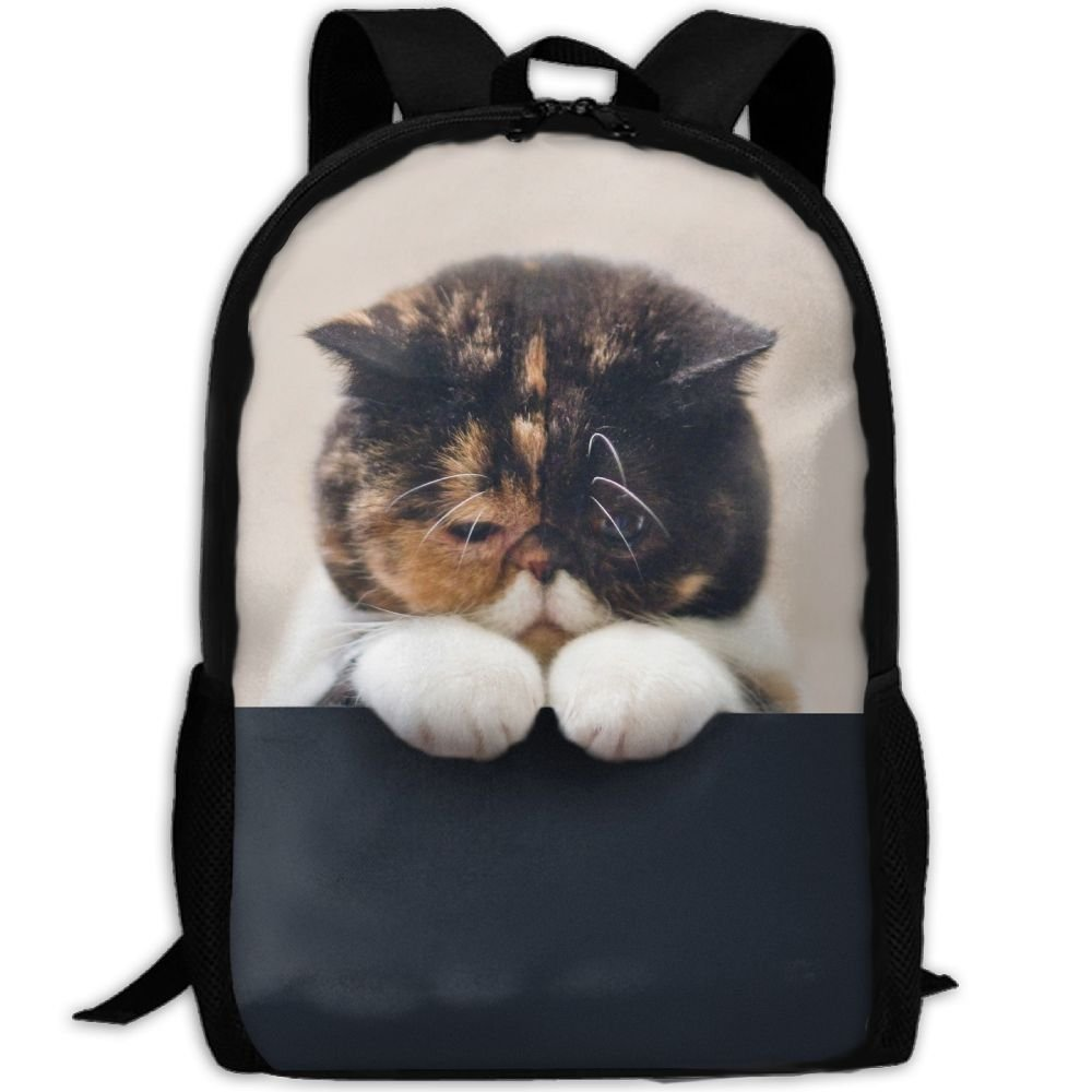 CY-STORE Beautiful Big Fluffy Animal Outdoor Shoulders Bag Fabric Backpack Multipurpose Daypacks For Adult